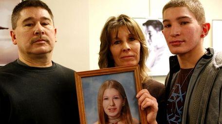Denise Gerardi's father, John, left, mother, Carrie, center,