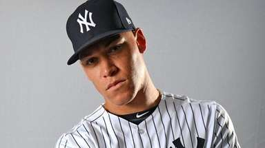 Yankees outfielder Aaron Judge on Photo Day 2018