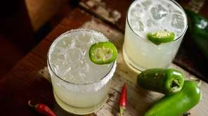 A spicy, pepper-infused margarita at Verde Kitchen &
