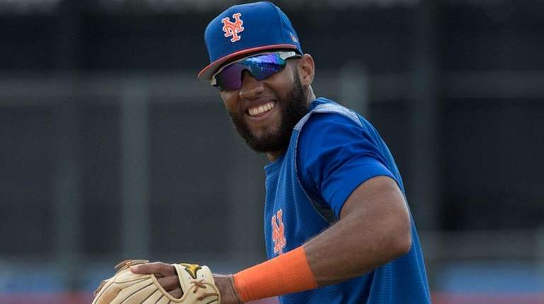 Mets infielder Amed Rosario works out at spring