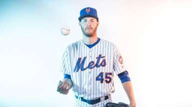 Mets pitcher Zach Wheeler poses for a portrait
