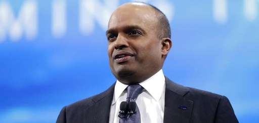 Ford Executive Vice President Raj Nair addresses the