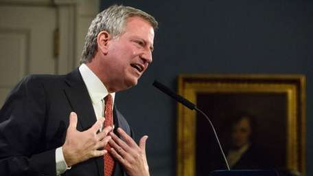 Mayor Bill de Blasio is being sued by