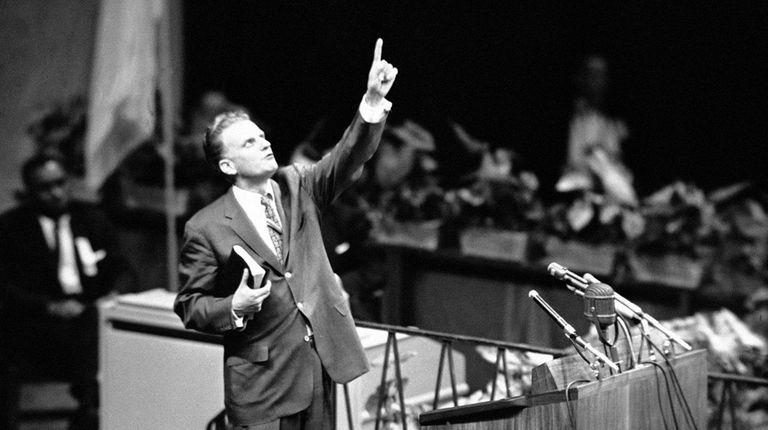The Rev. Billy Graham speaks at Madison Square