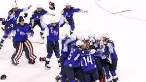 The United States celebrates after defeating Canada in