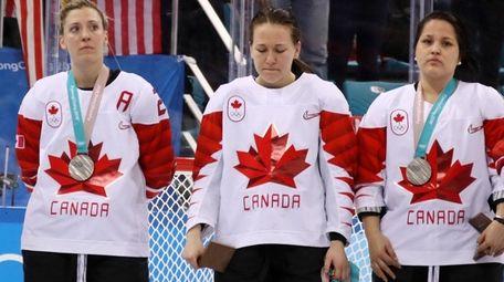Jocelyne Larocque #3 of Canada refuses to wear