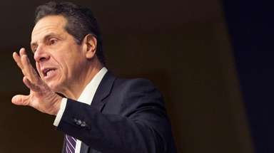 Gov. Andrew M. Cuomo speaks at Teamsters Local