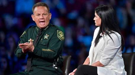 Broward Sheriff Scott Israel makes a point to