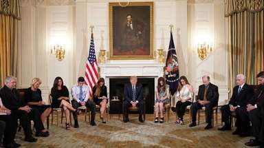 At the White House, President Donald Trump and