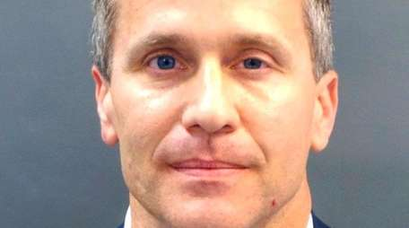 A booking photo of Missouri Gov. Eric Greitens