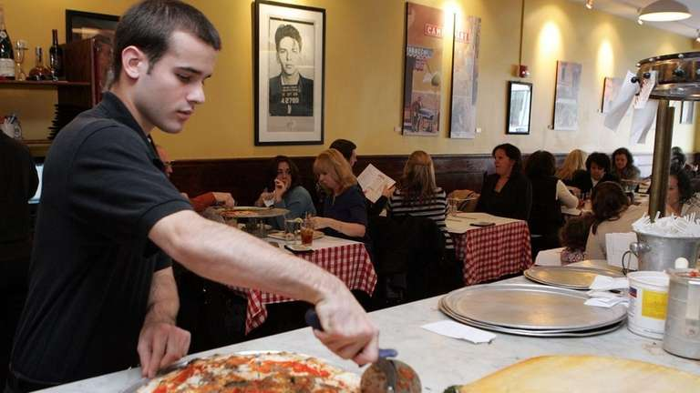 Along with pizzas, Grimaldi's serves calzones and salads.