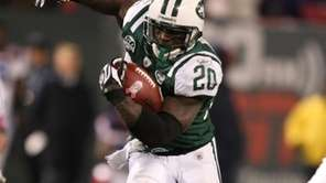 Thomas Jones #20 of The New York Jets