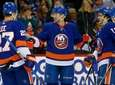 The Islanders' Josh Bailey celebrates his goal against