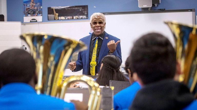 Roosevelt High School band director Frank Abel.