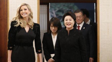 Ivanka Trump, the daughter of U.S. President Donald