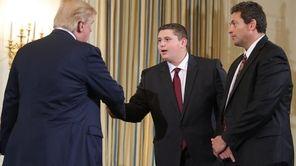 President Donald Trump greets Marjory Stoneman Douglas High