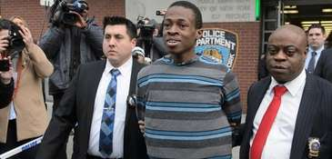 Lawyers for Chanel Lewis, above with NYPD detectives