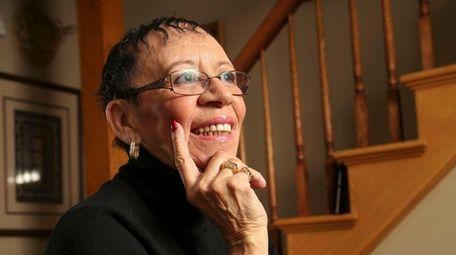 Longtime civil rights activist Sandy Thomas is shown