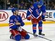 Chris Kreider and John Gilmour of the Rangers