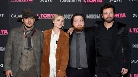 Actors Ricky Russert, from left, Margot Robbie, Paul
