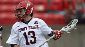 Stony Brook's Chris Pickel carries the ball during