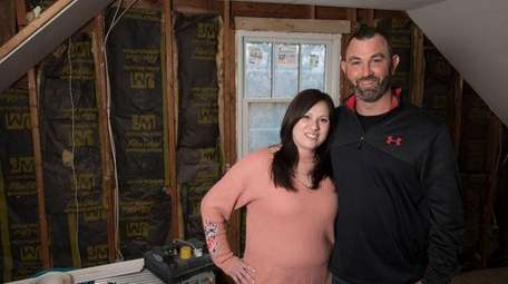 Meaghan and her husband Brandon Holmes of Bayport