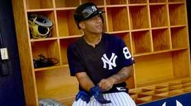 Gleyber Torres in the Yankees' dugout during spring