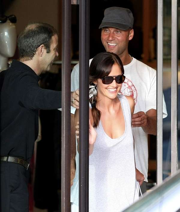 Derek Jeter goes shopping Minka Kelly at Louis