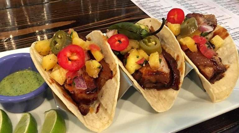 Tacos served at Oak House Mexican Kitchen in