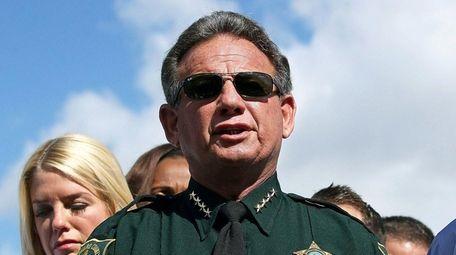 Broward County Sheriff Scott Israel speaks to the