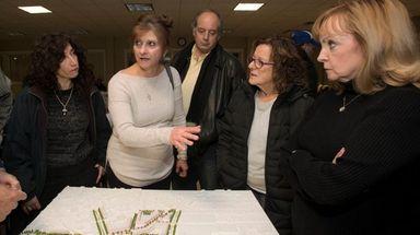 Hicksville residents Marguerite Martakis, Gina Henne, Irene Guarasci