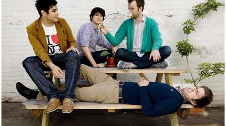 Vampire Weekend band members, from left, Rostam Batmanglij,