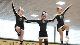 West Hempstead performs during the Nassau cheerleading championships