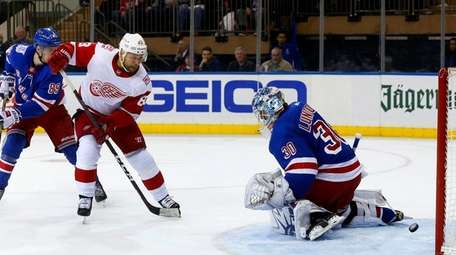 Trevor Daley #83 of the Detroit Red Wings