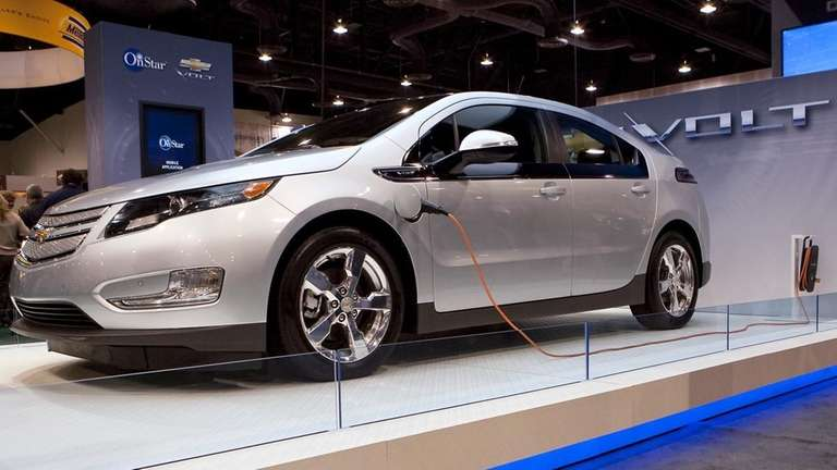 A General Motors Co. Chevrolet Volt electric vehicle