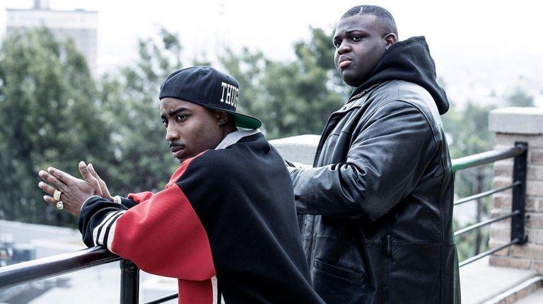 Marcc Rose, left, stars as Tupac Shakur and