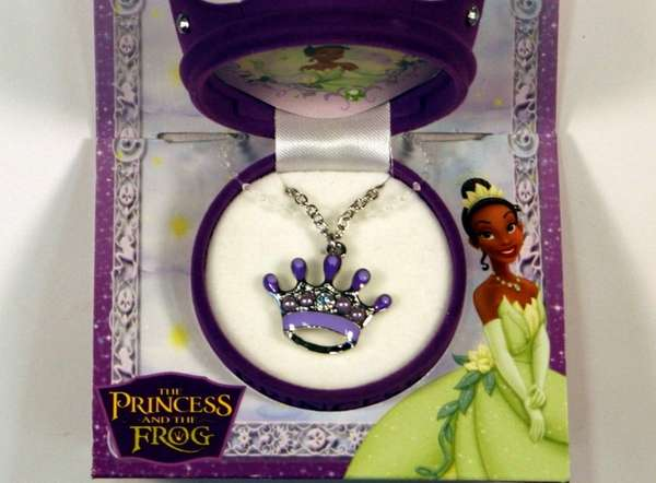 The Princess and the Frog necklace sold at