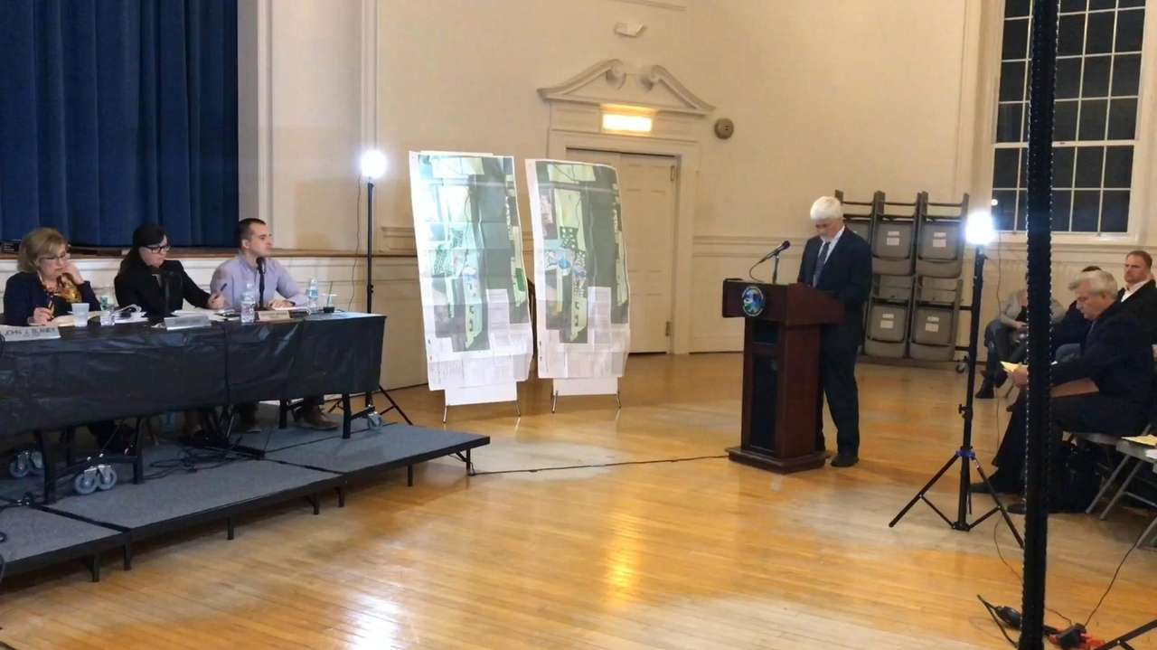 A Southampton Town Planning Board public hearing was