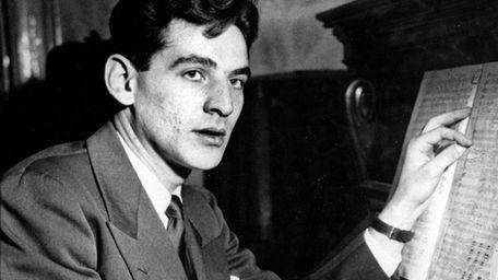 Leonard Bernstein at Carnegie Hall in 1943.