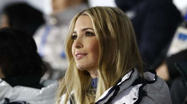 Ivanka Trump watches the closing ceremony of the