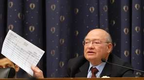 U.S. Rep. Gary Ackerman, pictured holding up one