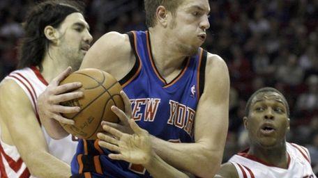 Knicks center David Lee, who grew up an