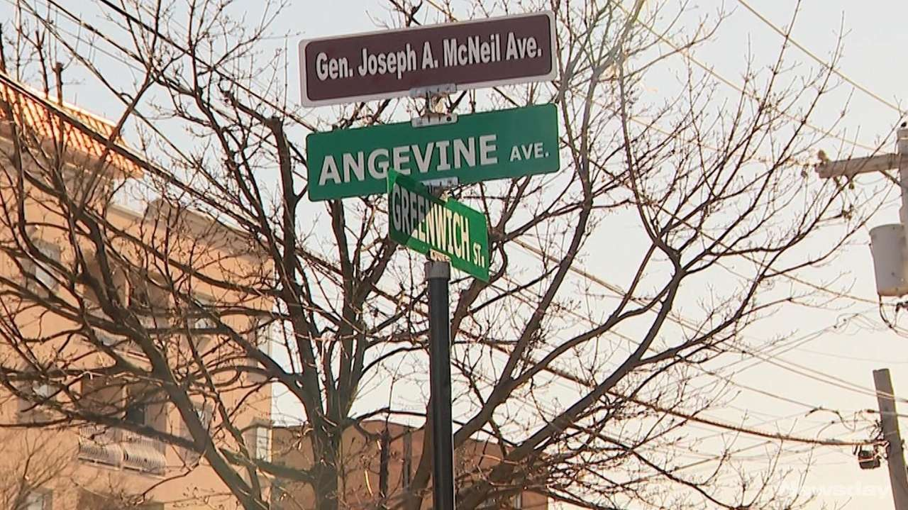 Angevin Avenue in Hempstead Village was renamed General Joseph
