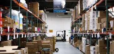 The warehouse at the Long Island Cares headquarters