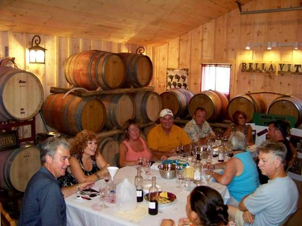 Members in a wine share at Sannino's Bella
