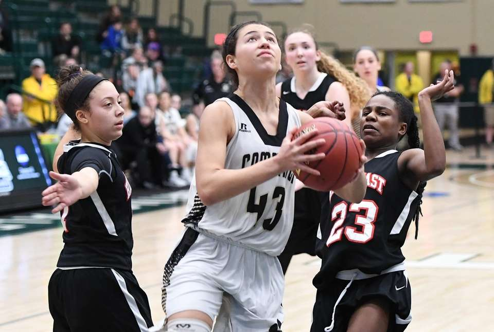 Commack guard Sydney Rosenoff looks to shoot against