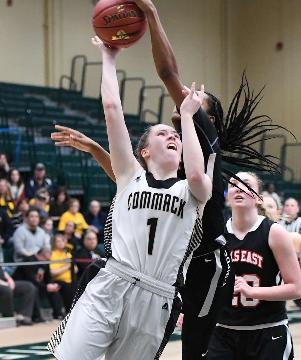 Commack guard Casey Hearns shoots and is defended