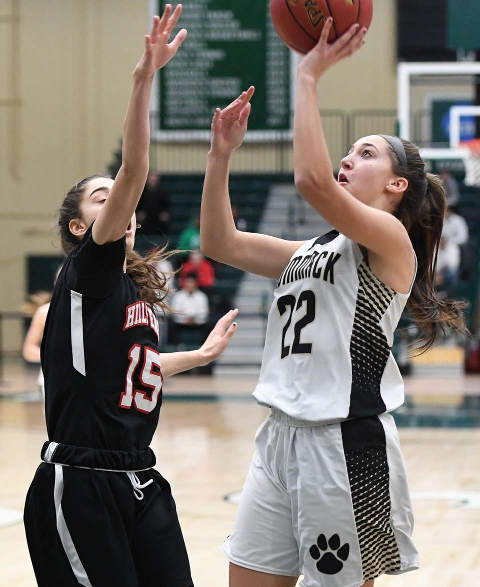 Commack guard Amanda McMahon shoots for a basket