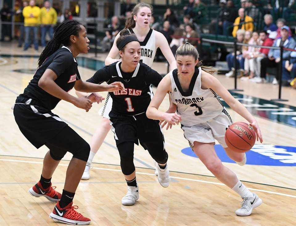 Commack guard Katie Kelly drives to the basket