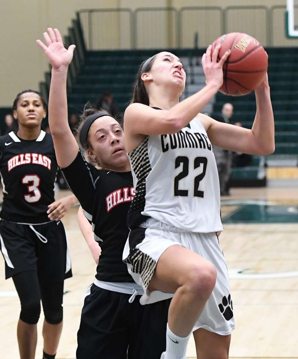 Commack guard Amanda McMahon puts up a shot